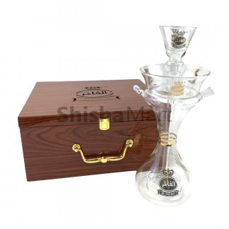 Al Fakher Glass Hookah with wooden case
